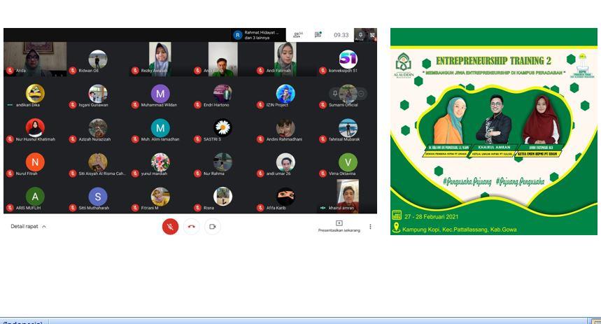 Pelatihan HIPMI UIN Alauddin Makassar, KaJur Manajemen memberikan sambutan.